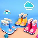 兒童雨鞋防滑男女童水靴寶寶小孩加絨保暖水鞋雨靴特惠免運