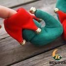 小狗狗鞋圣誕鞋子泰迪博美比熊鞋套寵物用品防滑狗腳套【創世紀生活館】