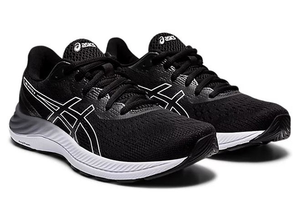 ASICS GEL-EXCITE 8 女款黑白D寬楦慢跑鞋-NO.1012A915-002