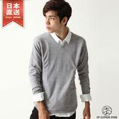 針織毛衣 V領仿喀什米爾針織上衣 共20色  L-XL