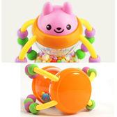 (交換禮物)手搖鈴花籃沙漏嬰兒芽膠0-3-6-12個月新生兒幼兒手搖鈴寶寶玩具1歲