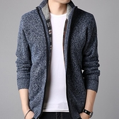 針織外套 新款毛衣男加絨加厚男士開衫保暖針織衫大碼休閒夾克外套【快速出貨八折下殺】