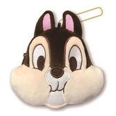 【KP】奇奇蒂蒂 大臉零錢包 迪士尼 收納小包 正版日本進口授權 4546598504767