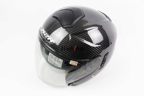 【OUTLET出清商品】M2R CF-1 黑色 碳纖維 四分之三安全帽 L