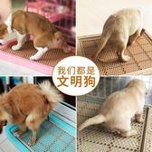 狗廁所泰迪小號狗便盆小型犬比熊金毛大號廁所寵物狗狗用品狗尿盆42.5*32.5CM