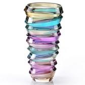 玻璃花瓶-螺紋藝術品時尚風格居家擺件72ah3【時尚巴黎】