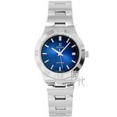 【台南 時代鐘錶 SIGMA】簡約時尚 藍寶石鏡面時尚腕錶 3801M-13 藍/銀 33mm 平價實惠的好選擇
