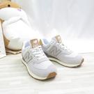 New Balance 574 女款 休閒鞋 D楦 運動鞋 ML574AC2 焦糖底 灰白 【iSport愛運動】