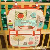 韓版大號可愛卡通嬰兒床頭大掛袋寶寶尿布用品床側邊整理收納袋igo 嬡孕哺