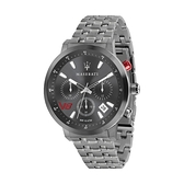 【Maserati 瑪莎拉蒂】GT槍色三眼日期潮流腕錶-霧感灰/R8873134001/台灣總代理公司貨享兩年保固