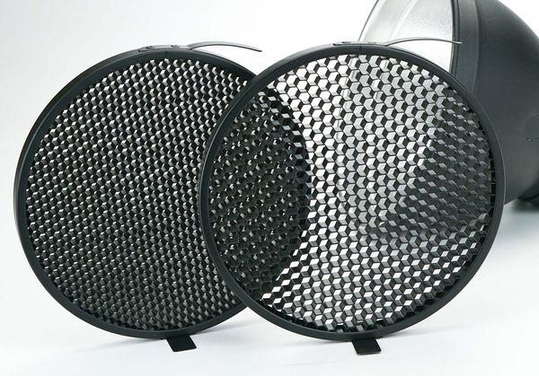 呈現攝影-18cm 蜂巢罩 4x4+6x6 各118cm標準罩專用 全金屬 可上棚燈 L型傘座+標準罩組可用 離機閃