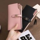韓版多卡位卡包錢包一體包女多功能長款手拿包小清新拉鍊軟皮夾 新春禮物