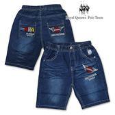 水洗刷白壓縐牛仔短褲[1816-8] RQ POLO 中大童 春夏 童裝 現貨