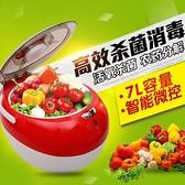 果蔬消毒清洗機洗菜機家用臭氧全自動活氧水果蔬菜去農藥凈化 NMS 樂活生活館