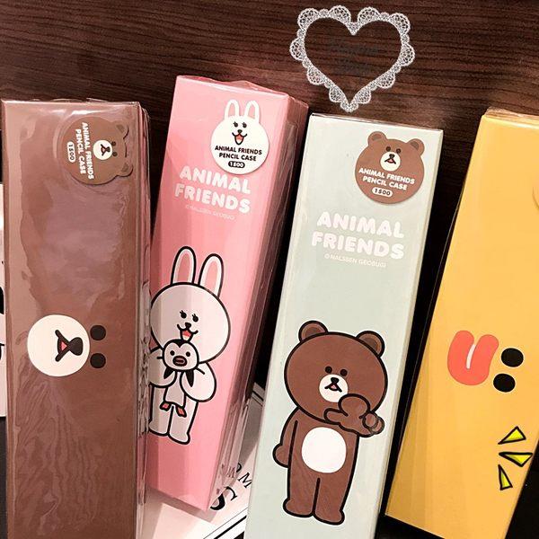 《花花創意会社》韓空運。LINE家族筆刷可愛收納盒【H5274】