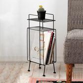 鐵藝創意簡易轉角客廳書架置物架落地多功能收納架儲物架igo 茱莉亞嚴選