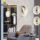輕奢水晶壁燈客廳背景墻臥室床頭燈個性創意過道樓梯樣板間壁燈 城市科技DF