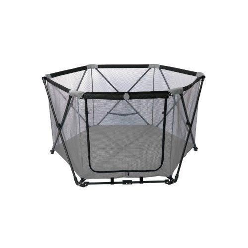 *WANG *Gen7pets《寵物六角圍欄》灰色小方格/玫紅色 輕巧收合,攜帶方便。透視圍欄安全又放心