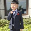 兒童西裝 兒童西裝花童禮服男童結婚走秀加絨帥氣英倫高端套裝冬季小孩西服 韓菲兒