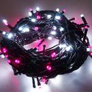 100燈LED燈串聖誕燈 (粉紅白光黑線)(附控制器跳機)(高亮度又省電)