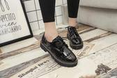 牛津鞋 休閒鞋鏤空透氣小皮鞋英倫