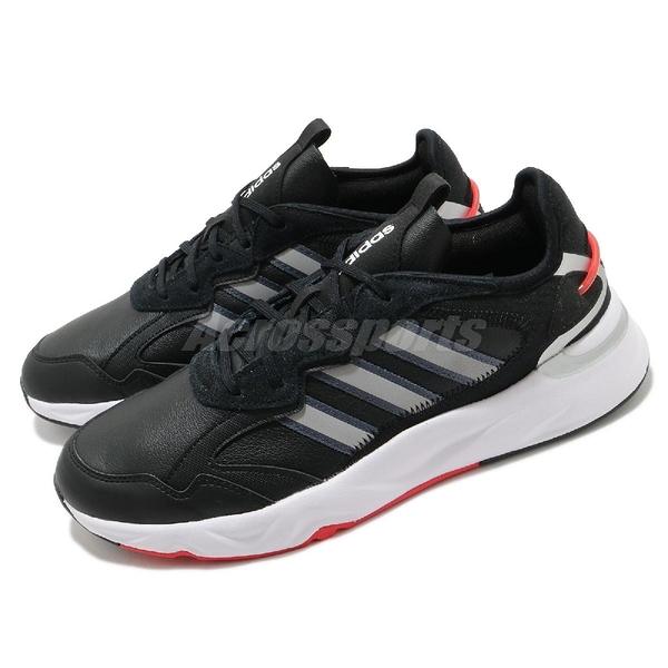 adidas 慢跑鞋 Future Flow 黑 白 男鞋 透氣 運動鞋 【ACS】 FZ0366