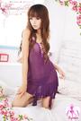 【紫星情趣用品】注目浪漫!性感柔紗二件式睡襯衣