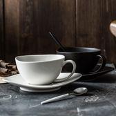 歐式簡約咖啡杯陶瓷咖啡杯情侶杯創意意式咖啡杯異形咖啡杯套裝【新年交換禮物降價】