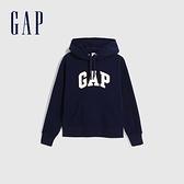 Gap女裝 Logo基本款連帽休閒上衣 624763-海軍藍
