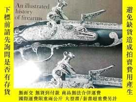 二手書博民逛書店大開本罕見ONE HUNDRED GREAT GUNS BY LINDSAY 海量插圖 34X27.6X3.5CM