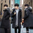反季冬装棉衣男韩版中长款加厚冬季棉袄子青少年羽绒棉服男士外套『潮流世家』