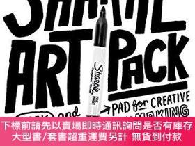 二手書博民逛書店Sharpie罕見Art Pack: A Book and Guided Sketch Pad for Creat