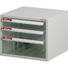 SHUTER 樹德 A4-103P桌上型資料櫃(透明抽)