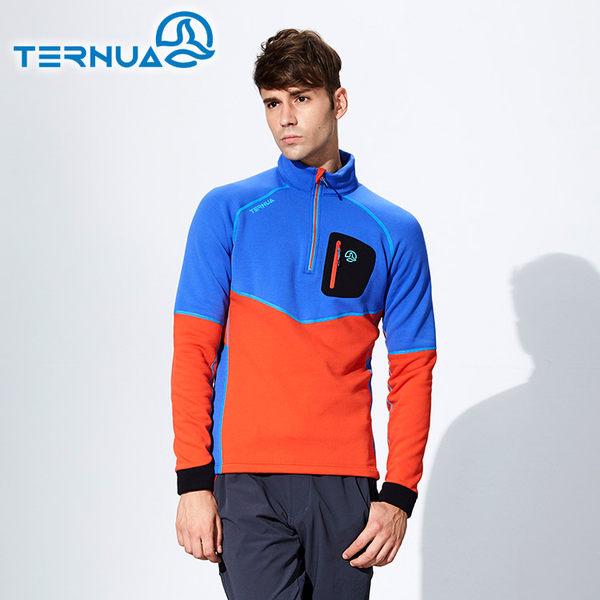 【西班牙TERNUA】男Power Stretch半門襟彈性保暖中層衣1206349 (S-XL) / 城市綠洲(透氣、彈性、快乾)