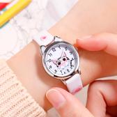 兒童手錶 兒童手錶女小學生初中韓版防水可愛複古少女指針式卡通電子石英錶 店慶降價
