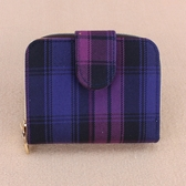 雨朵防水包 U136-1009 格紋短夾加扣