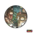 【收藏天地】台灣紀念品*水晶玻璃球冰箱貼-九份山城