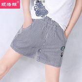 夏季女童夏裝褲子兒童運動褲五分褲熱褲外穿條紋短褲 萬客居