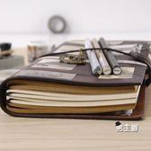 筆記本生日禮物TN旅行手帳本子復古隨身筆記本文具皮日記本活頁a5創意記事手賬本(免運)