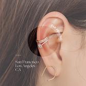 限量現貨◆PUFII-耳骨夾 幾何線條氣質水鑽耳骨夾(單只)- 0514 現+預 夏【CP18569】