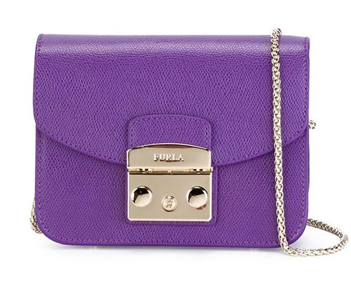 【雪曼國際精品】FURLA cross body MINI BABY款 紫色