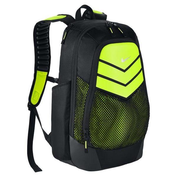 Nike VAPOR POWER BACKPACK 後背包 雙肩 舒適 氣墊 大容量 電腦 黑 螢光黃【運動世界】BA5246-010
