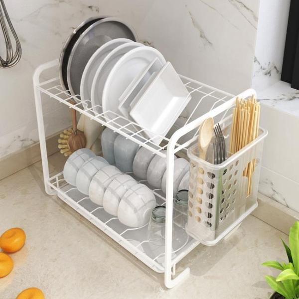 瀝水架 放碗架瀝水架家用廚房置物架 臺面晾碗碟筷子收納濾水小型多功能JY【快速出貨】