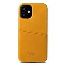 Alto iPhone 12 mini 真皮手機殼背蓋 5.4吋 Metro - 焦糖棕【可加購客製雷雕】皮革保護套