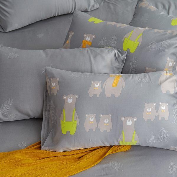 床包 / 單人【嘿!熊熊】含一件枕套  100%天絲  戀家小舖台灣製AAU101