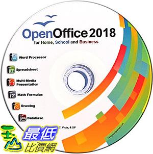 [7美國直購] 2018 amazon 亞馬遜暢銷軟體Open Office Suite 2018 CD for Home Student Professionals