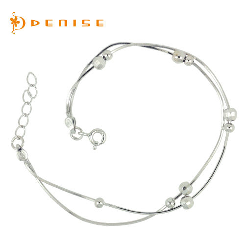 手鍊 925純銀「俏麗手鍊」銀飾禮品/情人禮物