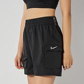 Nike AS W NSW Swsh Short WVN HR sm3 女 黑 運動 休閒 短褲 CZ9382-010