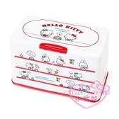小花花日本精品Hello Kitty凱蒂貓紅色滿版圖口罩收納盒收納箱 白色盒日本限定3月中到貨56878004