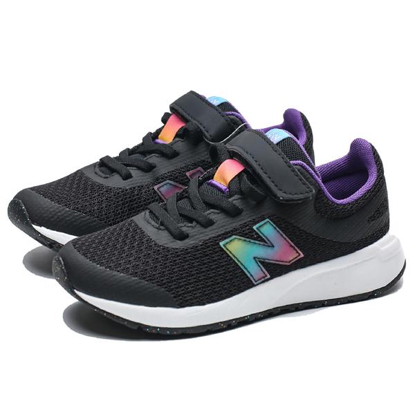 NEW BALANCE 455 黑 黑紫 雷射 漸層 網布 魔鬼氈 運動鞋 慢跑 中童 (布魯克林) YT455UB